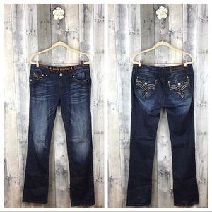 Rock Revival Darcy Straight Leg Jeans Size 32 EUC